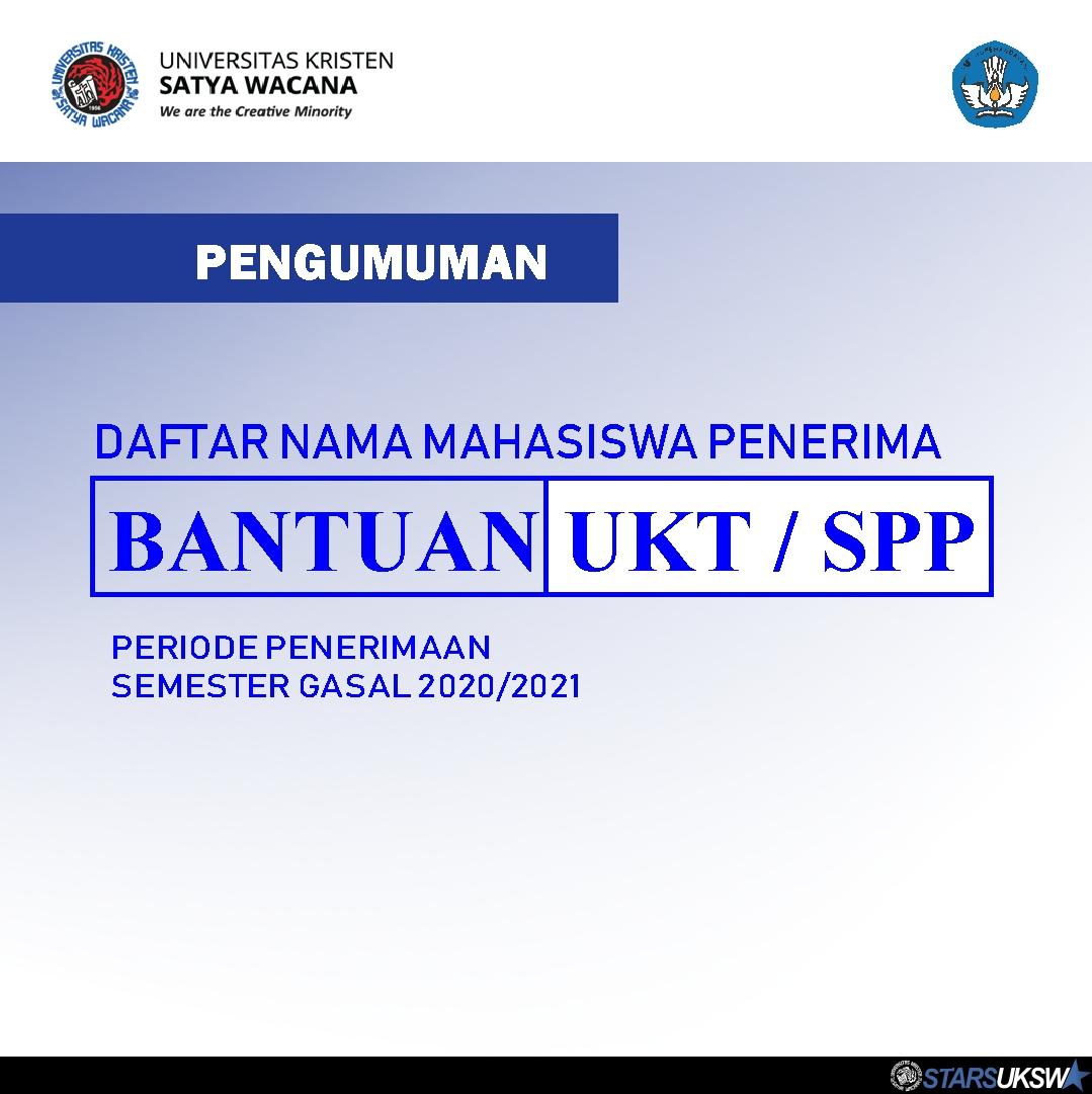 PENGUMUMAN BANTUAN UKT/SPP PERIODE SEMESTER GASAL 2020/2021